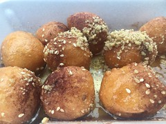 Taste of Greek Town (corsi photo) Tags: dough sweet dessert loukoumades greek pastry honey