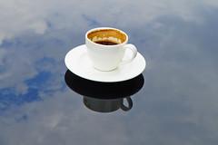 (yonca60) Tags: reflection sapanca sakarya sapancalake lake turkishcoffee coffee kahve turkkahvesi clouds mug fincan bluesky turkey golu cloudreflection