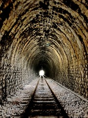 End (David BlueFox) Tags: picture beautiful life day flickr instagram night sombre tunnel train end