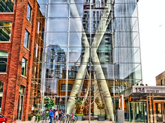 Toronto Ontario (duaneschermerhorn) Tags: toronto ontario canada city urban downtown architecture building skyscraper structure highrise architect modern contemporary modernarchitecture contemporaryarchitecture reflection reflective reflectivebuilding glass windows glassclad mirror distortion