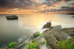 The Light of a New Day (Hector Prada) Tags: sunrise amanecer seascape costa coast sea mar island isla sky cielo water agua light luz longexposure storm summer verano colours clouds nubes cantabria spain españa