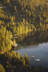 Emerald Bay in Lake Tahoe (A B Pan) Tags: emeraldbay laketahoe southtahoe travel visit earlymorning sunrise pinterest pinetrees sailboats california skiing summer weather lake