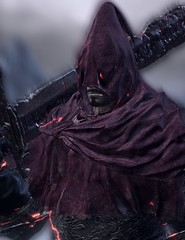 """""""Slave Knight"""" (L1netty) Tags: darksouls3 darksouls ds fromsoftware bandainamcoentertainment bandainamco pc game games gaming pcgaming videogame videogames reshade screenshot 4k character slaveknight gael man male people portrait knight warrior armor sword weapon hood dof color red outdoor fantasy"""