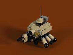 Sand Spider (Deltassius) Tags: lego moc render studio mech mecha robot space war military mfz mf0 scifi microscale