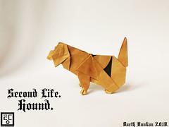 Second Life Hound  - Barth Dunkan. (Magic Fingaz) Tags: anjing barthdunkan chien chó dog hond hund köpek origami paperfolding perro pies пас пес собака หมา 개 犬 狗
