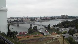 Video of view from Petrovaradin Fortress, Novi Sad, Serbia