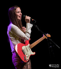 Margaret Glaspy @ Triple Door (Kirk Stauffer) Tags: kirk stauffer photographer nikon d5 adorable amazing attractive awesome beautiful beauty charming cute darling fabulous feminine glamour glamorous goddess gorgeous lovable lovely perfect petite precious pretty siren stunning sweet wonderful young female girl lady woman women live music tour concert show stage gig singer vocals musician band lights lighting indie pop long brown hair red lips blue eyes white teeth model tall fashion style portrait photo smile playing electric guitar play fender stratocaster