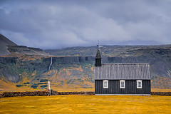 Budir-Church (deanallanphotography) Tags: art adventure anawesomeshot artisticexpression beauty colors clouds expression flickrsbest fab church impressedbeauty iceland landscape light mountain morning ngc natgeo nikon outdoor outdoors photography peaceandquiet peaceful panorama quiet rural travel texture view valley waterfall