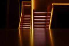 Neon Staircase II (trsl1234) Tags: staircase interior neon escalier escalante lines