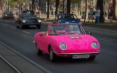 pink Fiat (try...error) Tags: cabrio woman rosa car classic vienna days viennaclassicdays parade traffic 850 spyder bertone design driver person urban downtown street wien