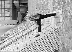 Stretch (Pexpix) Tags: kodakd76 exercise film201614 stretch female shapes woman leica35mmsummicronmf2asph leicampsilver 攝影發燒友 diagonals blackandwhite film ilfordhp5 bw lady monochrome yautsimmongdistrict kowloon hongkong hk