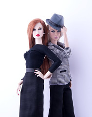 Dynamic Duo (doll_enthusiast) Tags: fashion royaty fr fr2 integrity toys fabulous fields luchia z daytime impact dasha it dolls doll collecting photography