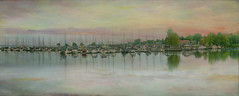 Boats in the Marina (jta1950) Tags: marina lakechamplain lake river pano panorama sailboats