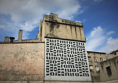 Street Art in Lodz (roomman) Tags: 2018 lodz poland industry culture history past story lost place lostplace industrial town city cities towns textile factory mural art paint painting house wall facade street architecture sky building