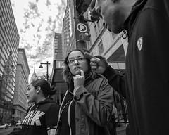 12th Street near Market Street, 2017 (Alan Barr) Tags: philadelphia 2017 12thstreet marketstreet marketstreeteast marketeast street sp streetphotography streetphoto blackandwhite bw blackwhite mono monochrome candid city people panasonic lumix gx85