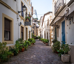 Street of the Fishermen (Johnners61) Tags: carrerdelspescadors tossademar tossa spain catalonia catalunya street alley pano panorama town microfourthirds micro four thirds mft m43 olympuspen pen ep5