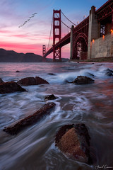 Hidden Gems (Aron Cooperman) Tags: aroncooperman california goldengatebridge landscape marshallsbeach northerncalifornia openlightphoto pacificocean sanfrancisco september2016 sunset nikond800 ggb seascape sfbay coastline water seaside