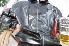 beer and latex (lulax40) Tags: hunter latex latexclothes latexjeans fetish fetishist rubberboots rubber rubberslave raingear latexshirt