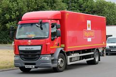 Royal Mail PE65 VBC, DAF LF at Hardwicke (majorcatransport) Tags: royalmail daf daflf hardwicke