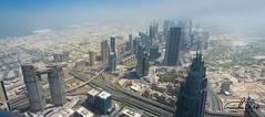 Dubai Panorama (Theo Crazzolara) Tags: dubai vae vereinigtearabischeemirate burjkhalifa skyscraper city dubaiphotography cool fancy beautiful sightseeing highlights unitedarabemirates panorama aerial flying flyinghigh top