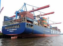 CMA CGM Corneille (IMO 9409170) (Parchimer) Tags: containerschiff containership cargovessel schiff ship hamburg hafen elbe
