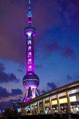 Pearl Tower Shanghai (Bokeh & Travel) Tags: pearltower shanghai tower bund pudong nightlights nightimage architecture china bluehour