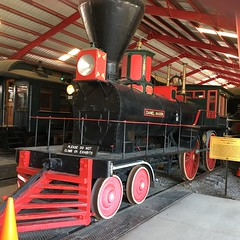 One of the first Americans 4-4-0's (Chicago Rail Head) Tags: museumoftransportation 440 1863 steamlocomotive oldtimer bp danielsnason americatype