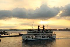 Sunset cruise (Teruhide Tomori) Tags: kagoshima boat ferry sea sunset sky japan japon 鹿児島 桜島フェリー 日本 kyusyu 九州 船 夕方 桜島港フェリーターミナル sakurajimaport 錦江湾