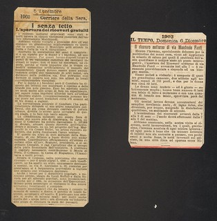 Annunci  dell'apertura del Ricovero provvisorio, 1903