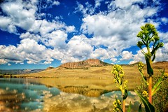 Delaney Lakes Reflection (Never Exceed Speed) Tags: delaneybutte hill waldenco reflection scenery colorado delaneylakes butte landscape