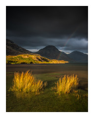 Wast Water Rainbow (Vemsteroo) Tags: lakedistrict rainbow sunset dusk fells longexposure zeiss milvus benro filters canon5d mkiv lakes waterscape storm drama wastwater cumbria wasdale landscape outdoors