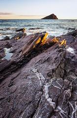 On The Rocks (Rich Walker Photography) Tags: beach rock rocks sea seascape landscape landscapes landscapephotography nationaltrust water waves sunset mewstone patterns coast coastline coastal canon england efs1585mmisusm eos eos80d