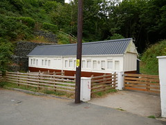 Llangrannog (Dubris) Tags: wales cymru ceredigion llangrannog seaside coast village architecture building cottage adaptivereuse railwaycarriage