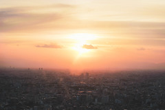 Blazing sunset (Kazuma Ogura) Tags: sunset sundown sunrise dawn red sky burning orange sun golden canon japan tokyo