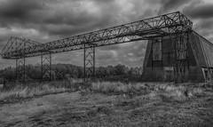 lost (stevefge) Tags: 2018 benedenleuwen dijk abandoned industry industrial dark sinister steel blackandwhite bw monochrome zwartwit zw landscape sky hdr maasenwaal nederland netherlands nl nederlandvandaag