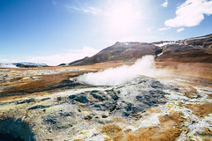 Myvatn on fire (lu★) Tags: myvatn iceland geothermal volcano nature steam pot smoke