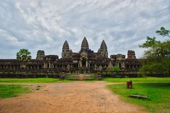 Angkor Wat seen from the East near Siem Reap, Cambodia (UweBKK (α 77 on )) Tags: angkor wat archeological park east view entrance architecture ancient history historical site building temple religion religious ruins siemreap siem reap cambodia southeast asia sony alpha 77 slt dslr