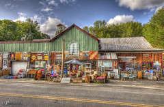 Hillbilly Recycling. One Of Everything Sold Here! (Pearce Levrais Photography) Tags: recycling hillbilly vermont sky cloud canon hdr explore tourism architecture store unique entertaining