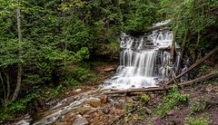 Stairstepping (Wes Iversen) Tags: michigan munising nikkor24120mm up upperpeninsula wagnerfalls beauty forests nature rivers trees water waterfalls woods
