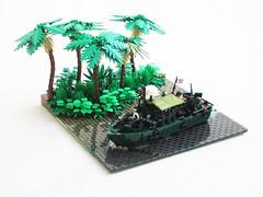 PRB diorama updated, again! (Mad physicist) Tags: pibber jungle lego boat vietnam war pbr usnavy