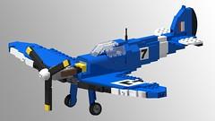 Supermarine Spitfire Mk I - Racer No 7 - 04 (Lt. SPAZ) Tags: lego supermarine spitfire wwii allies raf mki aircraft fighter airplane british