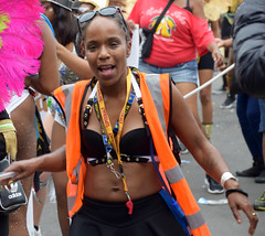DSC_7864a Notting Hill Caribbean Carnival London Charming Female Secuity Marshal Girl Aug 27 2018 Stunning Ladies (photographer695) Tags: notting hill caribbean carnival london exotic colourful costume girls aug 27 2018 stunning ladies charming female secuity marshal girl