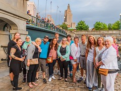 2018-8-25 WaterFire Walking Tour (Photograph by Jeff Meunier)