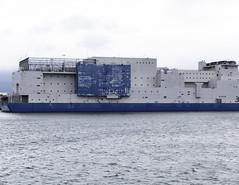 The Bain , Prison Barge   opposite Rikers Island NYC (vern Ri) Tags: soundview prison jail thebain theboat vernoncbain longislandsound