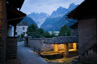swimming pool @Soglio, Val Bregaglia
