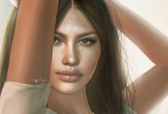 what you see in me is the reflection of you (Cataleya.) Tags: cataleya avatar emotion portrait digitalpainting brunette pixel virtualworld beauty closeup faceshot face sl secondlife