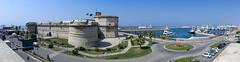 Civitavecchia Fort (Bertram Ernest) Tags: panasonic lumix tz100 panorama panoramic civitavecchia fort italy cartagena spain port