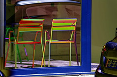(Jean-Luc Léopoldi) Tags: psychedelic chaises vitrine car voiture reflet