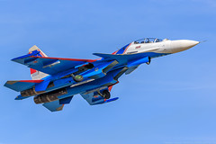 Su-30SM (RealHokum) Tags: airshow aircraft airplane aviation alabino army2018 aerobaticteam kubinka ef200400 sukhoi su30sm fighter flanker russianairforce russianarmy russianknights russkievityazi