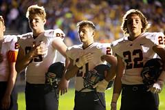National Anthem (Jenny Onsager) Tags: nationalanthem football handonheart highschool sports bokeh helmets whitejersey nike 21 defense cornerback canon
